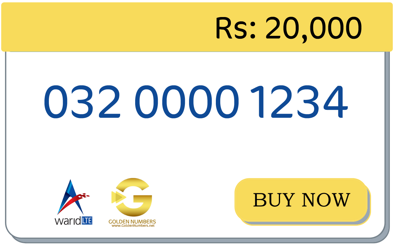 warid easy number for sale in Pakistan