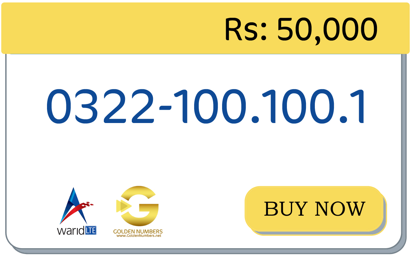 warid easy number for sale