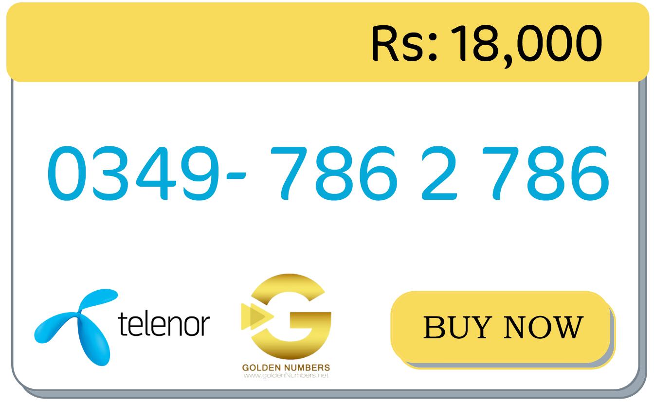 low price 786 golden number