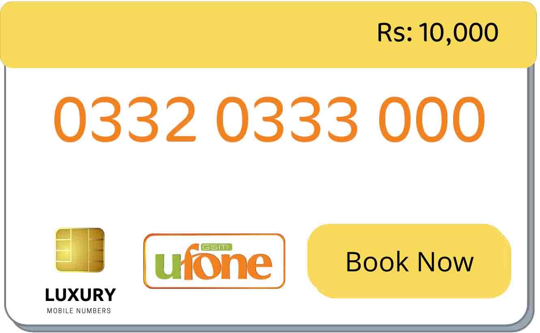ufone triple golden numbers