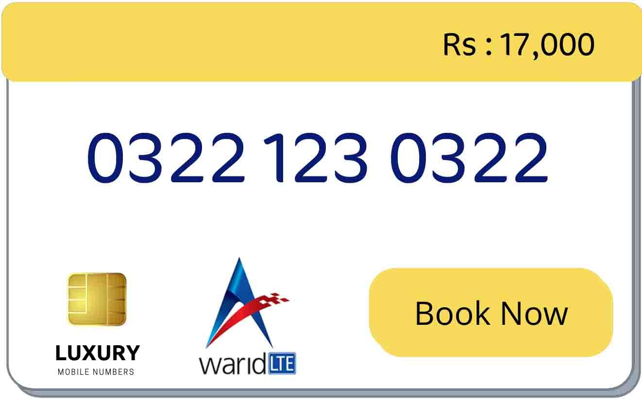 warid code mobile numbers